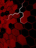 Red abstract hexagon background Royalty Free Stock Image