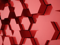 Red abstract hexagonal background Royalty Free Stock Image
