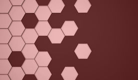 Red abstract hexagonal cell background Stock Photos