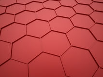 Red abstract hexagonal mesh Royalty Free Stock Images