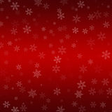 Red Abstract Horizontal Gradient Snowflake Christmas Background Stock Images