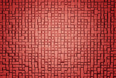 Red abstract image of cubes background. 3d render. Ing vector illustration