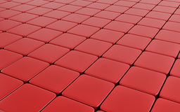 Red abstract image of cubes background. 3d render Royalty Free Stock Photos