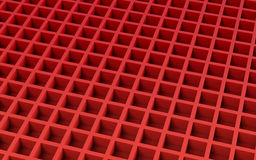 Red abstract image of cubes background. 3d render Royalty Free Stock Photo