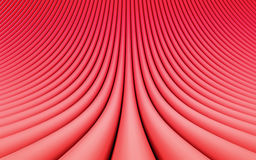 Red abstract image of lines background. 3d render Stock Photography