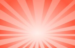 Red Abstract Line  Background Cartoon Style. Big Boom  Or Sunlight . Royalty Free Stock Photos