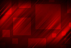 Red  abstract lines and Square background Stock Images