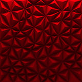 Red abstract low-poly polygonal triangular mosaic background Stock Images