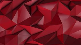 Red abstract low poly triangle background. 4k stock video