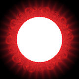 Red abstract mandala background. Red abstract flame loral background Stock Illustration