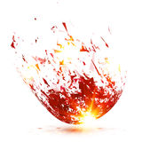 Red abstract meteorite vector explode Stock Photography