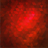 Red abstract mosaic background. Stock Image