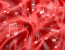 Red Abstract Music Background