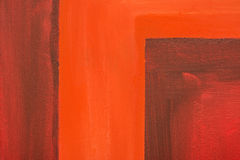 Red Abstract Painted Canvas Royalty Free Stock Photography