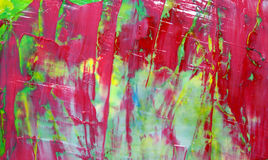 Red Abstract Painting. Beautiful Spring colors with sharp red contrast and high visual appeal in this abstract painted with a large palette knife and thick stock images