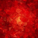 Red abstract polygon pattern Royalty Free Stock Photo