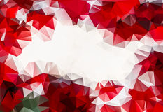 Red abstract polygon pattern background. With space for your text Royalty Free Stock Photo