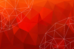 Red abstract polygonal background Stock Photography