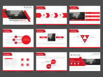 Red Abstract presentation templates, Infographic elements template flat design set for annual report brochure flyer leaflet market. Ing advertising banner Stock Image