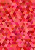 Red abstract regular triangle tile design. Red abstract regular triangle tile background design stock illustration