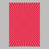 Red abstract retro explosion page template - vector brochure background graphic. With radial stripe pattern royalty free illustration