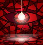Red abstract room Royalty Free Stock Photo