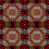 Red abstract seamless lace pattern texture background Royalty Free Stock Photos