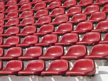 Red abstract seats Royalty Free Stock Photos
