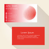 Red abstract sphere from dots business card design eps10 Stock Photos