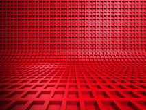 Red abstract square shapes background. 3d render illustration Royalty Free Stock Images