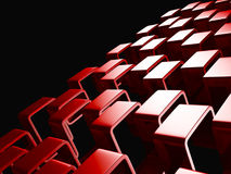 Red Abstract Squares Design Background Royalty Free Stock Photo