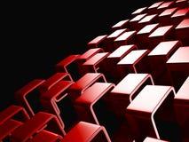 Red Abstract Squares Design Background. 3d Render Illustration stock illustration