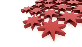 Red abstract stars background. Rendered Stock Photo