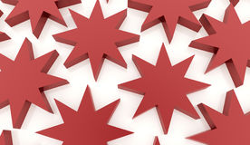 Red abstract stars background. Rendered Royalty Free Stock Image