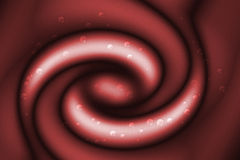 Red abstract swirl background Stock Photography