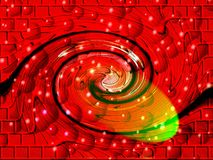 Red abstract swirl pattern Royalty Free Stock Photos
