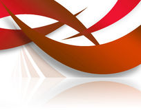 Red Abstract Swoosh Layout Stock Photo