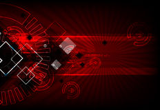 Red abstract technological background Royalty Free Stock Image