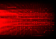 Red abstract technological background Stock Images