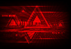 Red abstract technological background Stock Photography