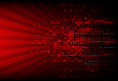 Red abstract technological background Royalty Free Stock Photos