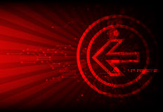 Red abstract technological background Stock Photos
