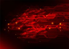 Red abstract technology concept background, vector illustration Stock Image