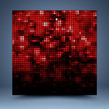 Red and black mosaic abstract background royalty free illustration