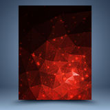 Red grunge vector geometric abstract background