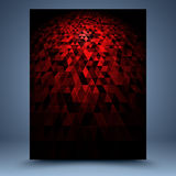 Red and black vector geometric abstract background Stock Images
