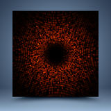 Red and black vector mosaic abstract background stock illustration