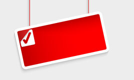 Red Abstract Text Box Royalty Free Stock Images