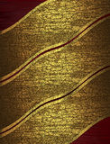 Red Abstract Texture With Cracked Yellow Ribbons. Stock Photography