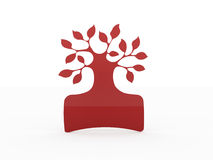 Red abstract tree concept isolated Royalty Free Stock Photo